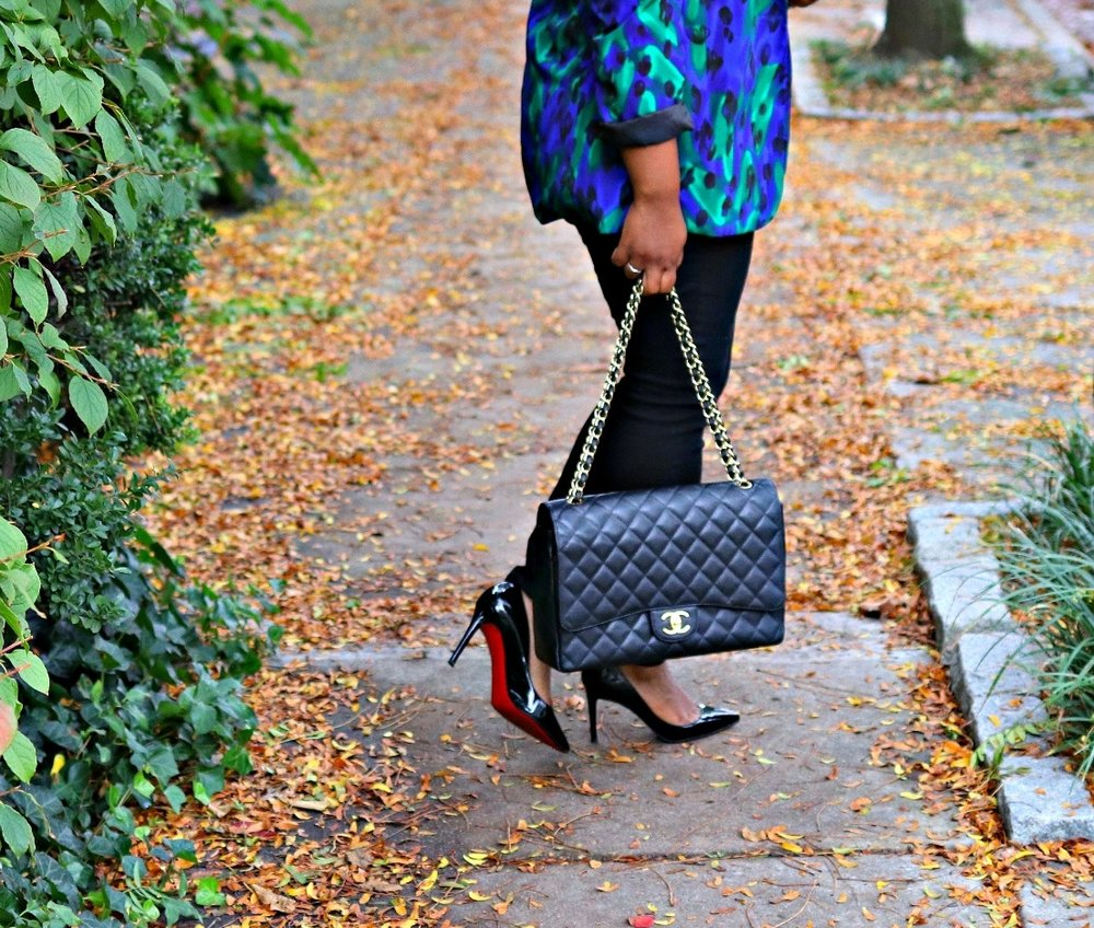 Chanel Maxi Purse, Christian Louboutin Pigalle