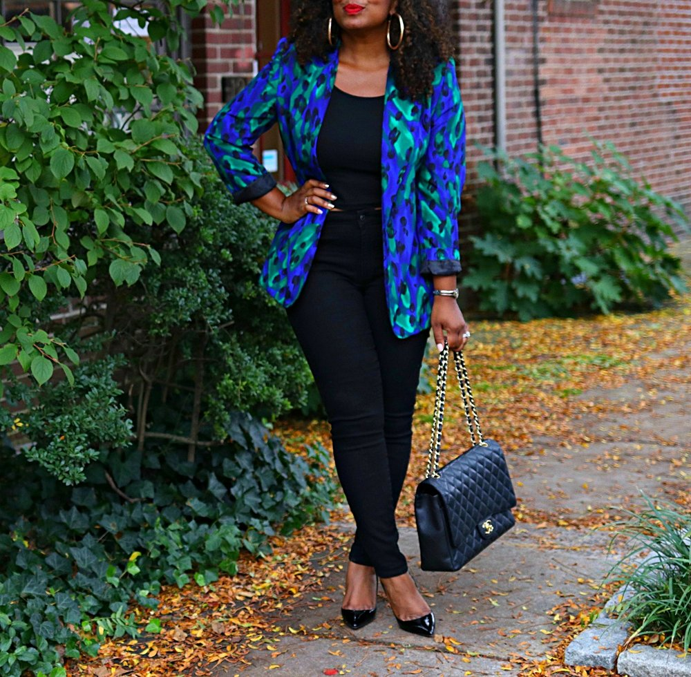 Leopard Blazer and Crop Top