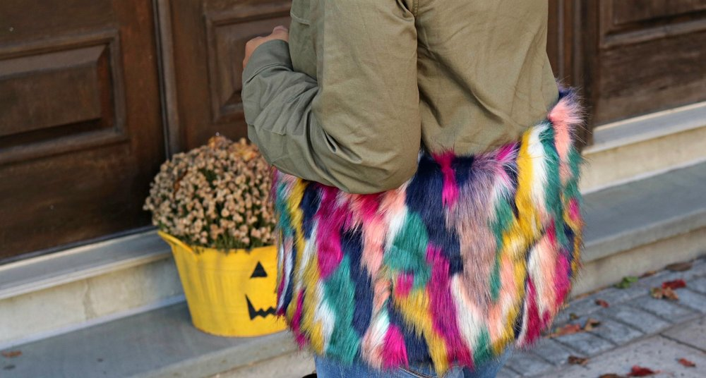 Multi-Colored Faux Fur Jacket, Fall Fashion, Fall Trends, Fall Style