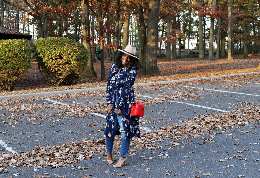 Fall Fashion: Floral Dress as a Top