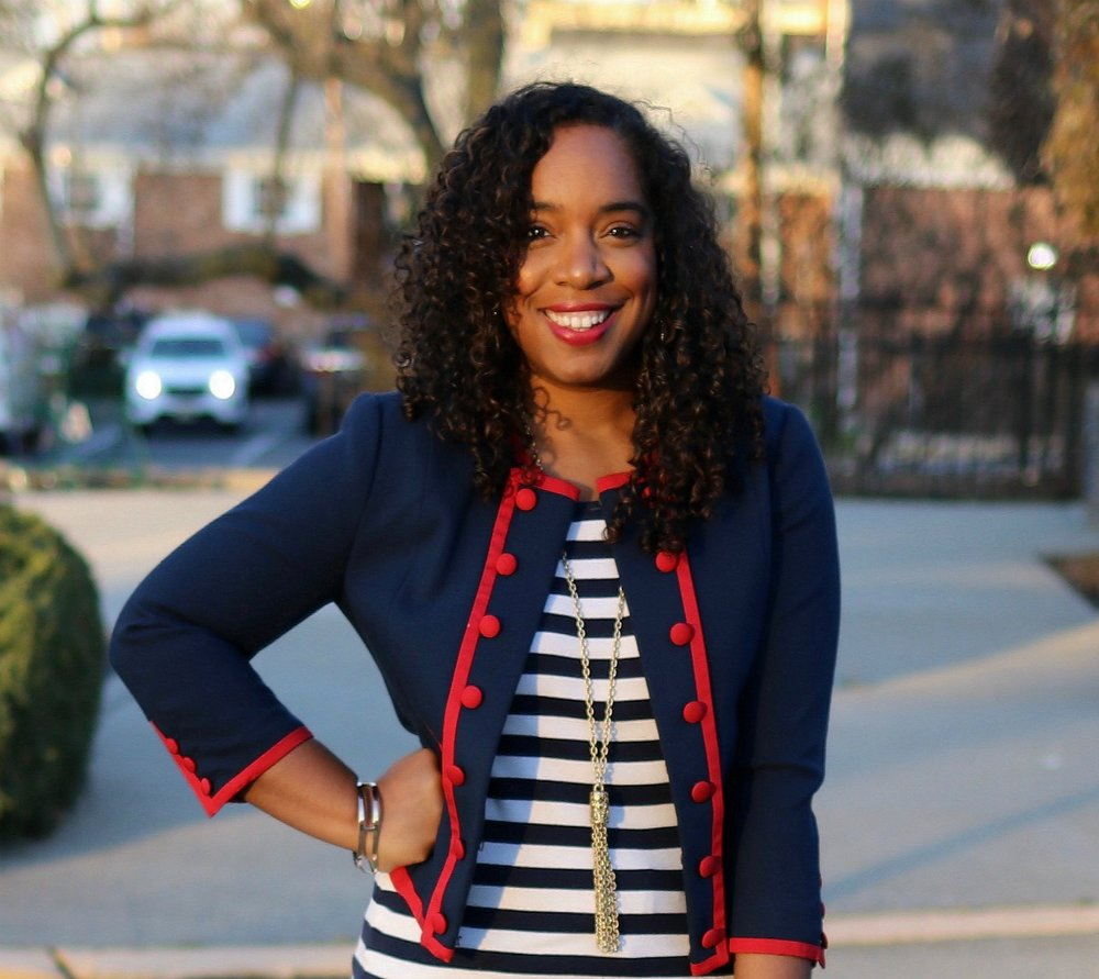 Navy Blazer with red piping