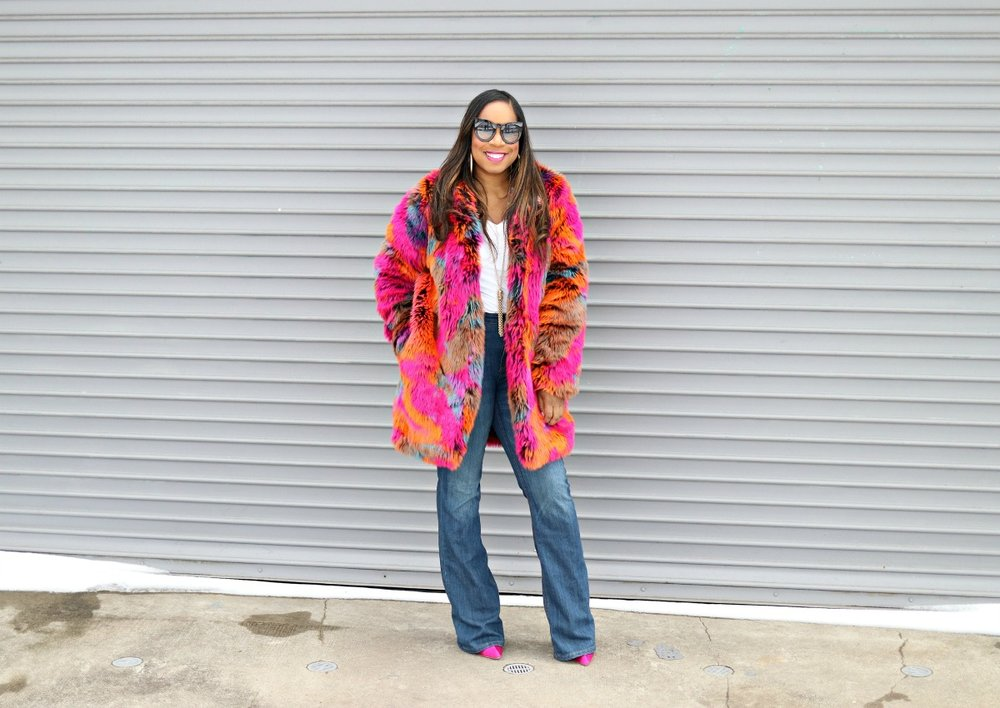 Colorful Oversized Faux Fur