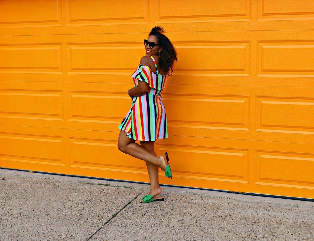 Summer Dress, Asos Dress, Zara slides, Vibrant Style