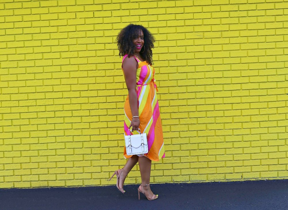 Colorful Midi Vintage Dress