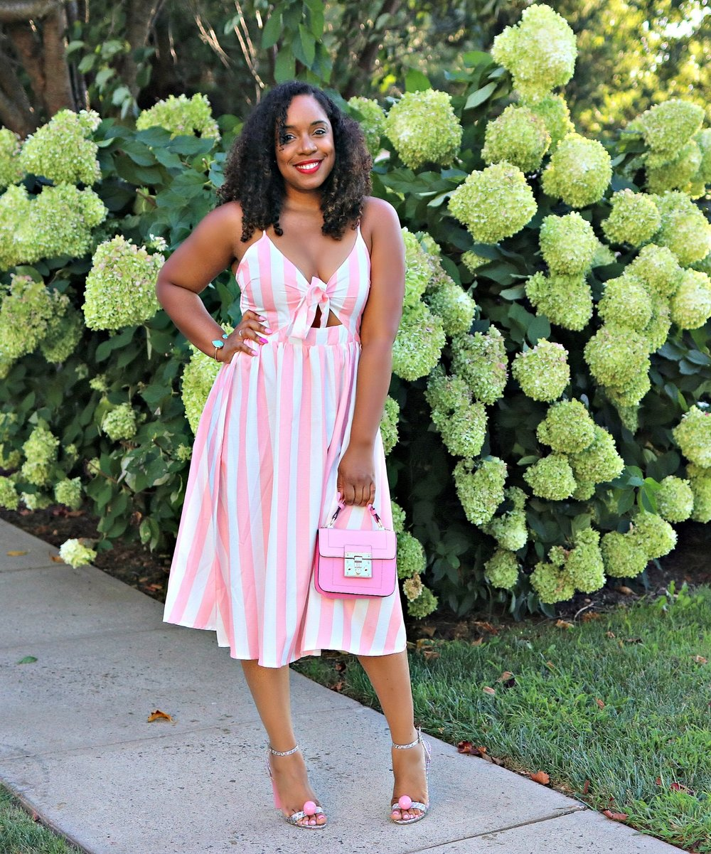 Midi Dress, Striped Dress, Summer Fashion