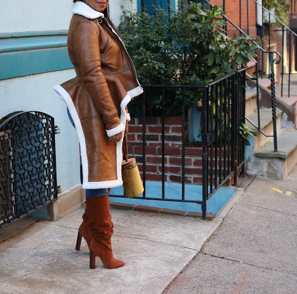 Brown Shearling Jacket