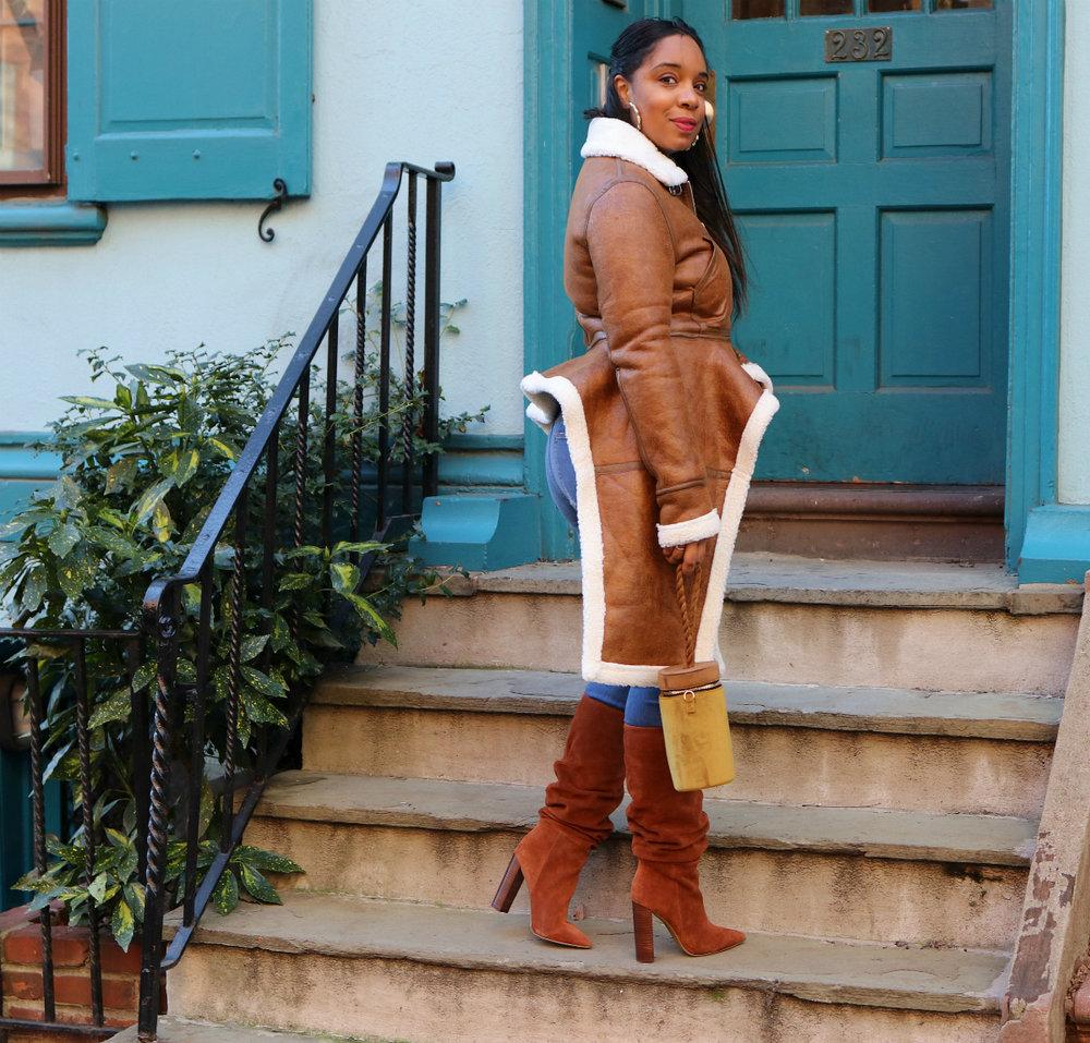 Shearling coat and OTK boots