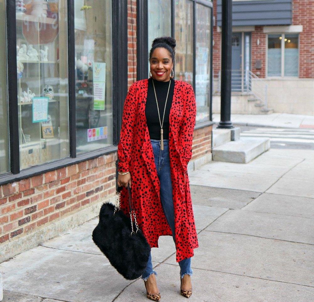 winter fashion, leopard, print mixing, leopard pumps, fur purse