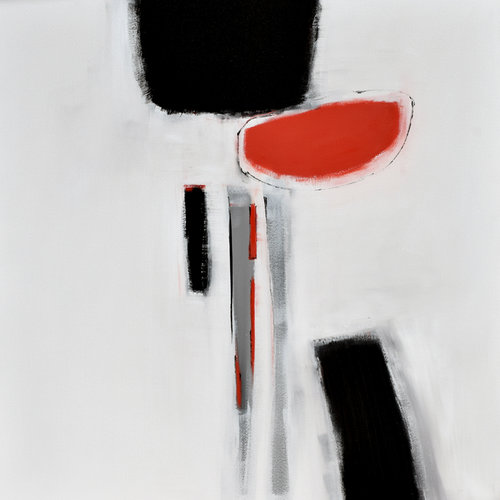 bb8201fdfdc Original Large Abstract Art Painting On Canvas Black White Orange wall art  Large Acrylic Painting On Canvas Minimalist Abstract Painting  BW09