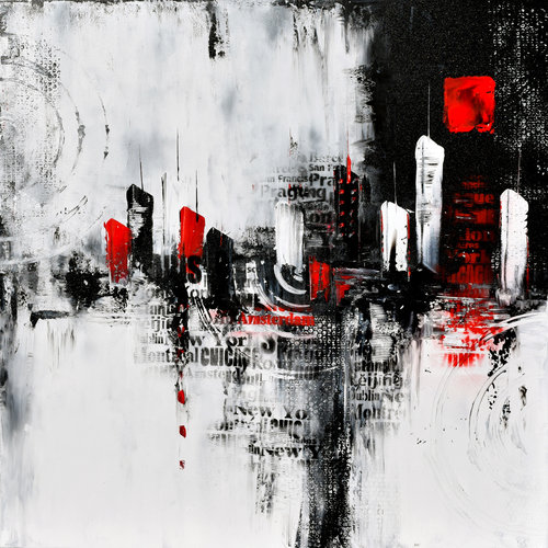 5e2f7ce4a84 Large Urban Abstract Painting