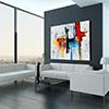 Ultramodern Loft Living Room Interior