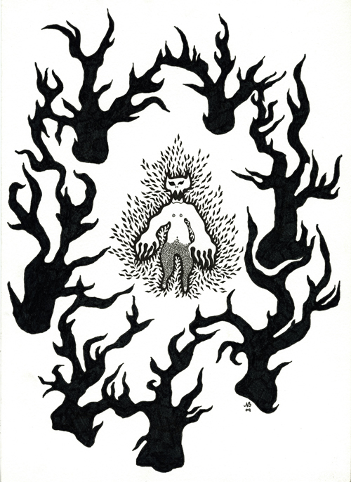 Wood demon - print size 425 x 600 mm - price 150 euros