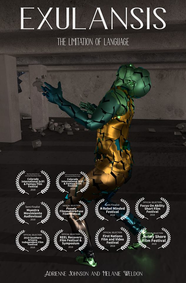 EXULANSIS was recently selected for multiple festival screenings and won an award for best score.