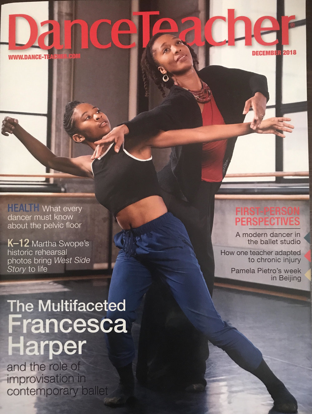 Cover of Dance Teacher Magazine December 2018 issue