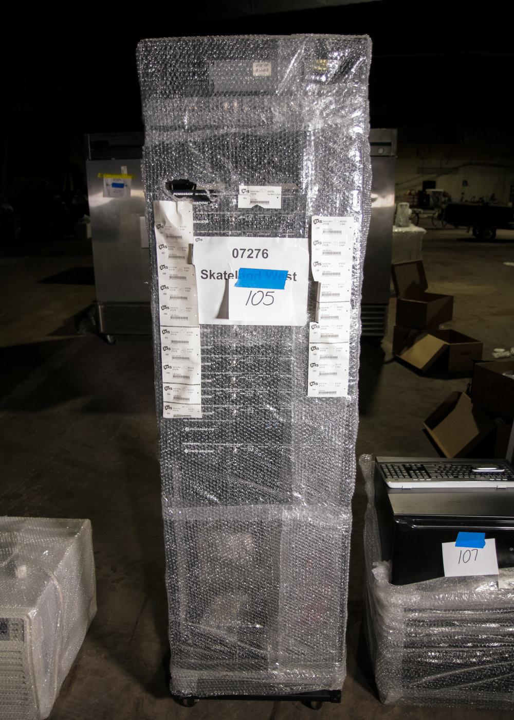 Video Modulator Complete Rack Unit  (6' Tall. 12 Pico Macom Modulators, 2 Headend Amps, 2 Stero Program Limiter, 1 Transformer)