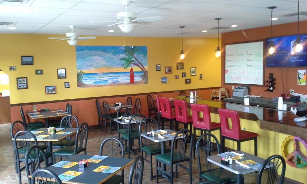 Inside Spicy Gringo's in Weirton, WV.