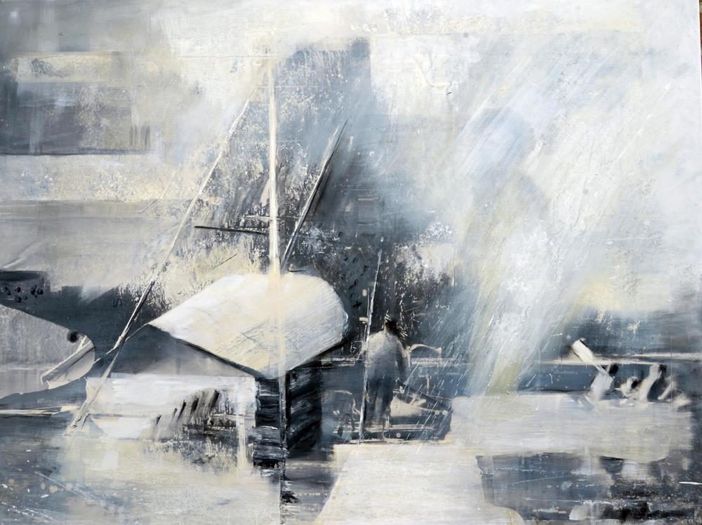 Hieronymus Proske,Rhetra-Flößer, 90 x 120 cm, 2016