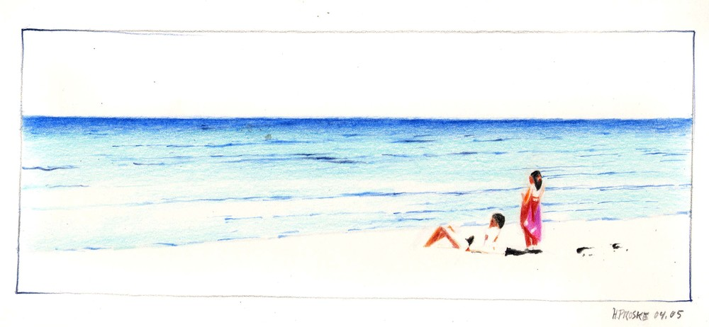 en passant 11,30 x 40. Farbstift:Papier, 2004.jpg