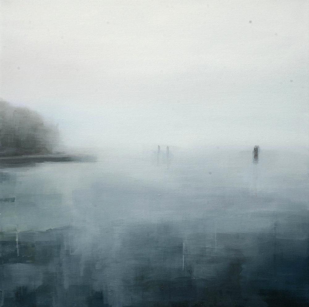 Hieronymus Proske . Venedig, Nebel .55 x 55 cm . 2017