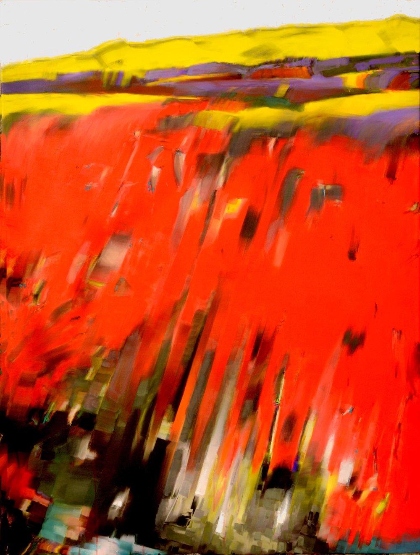 red rock   90 x 120 cm  Acryl auf Leinwand  2017