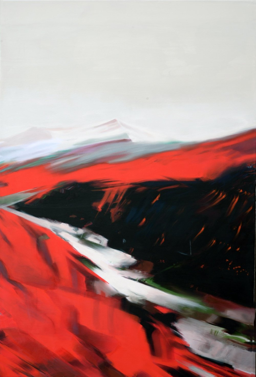 hrunga, 140 x 90 cm, Acryl/Leinwand, 2018