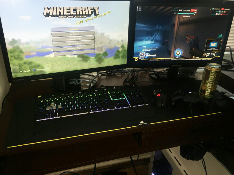 Gaming rig at our Chicago office used for epic Overwatch, Minecraft, and Twitch sessions