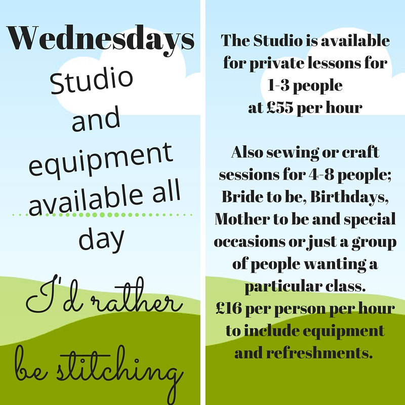 However the Studio is available for private lessons for 1-3 people at £55 per hour, or Sewing or craft sessions for Bride to be, Birthdays, Mother to be and special occasions or just a group of people wanting a particular class. £16 p (2).jpg