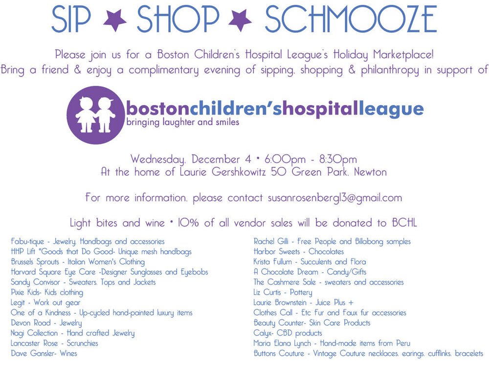Sip Shop Schmooze