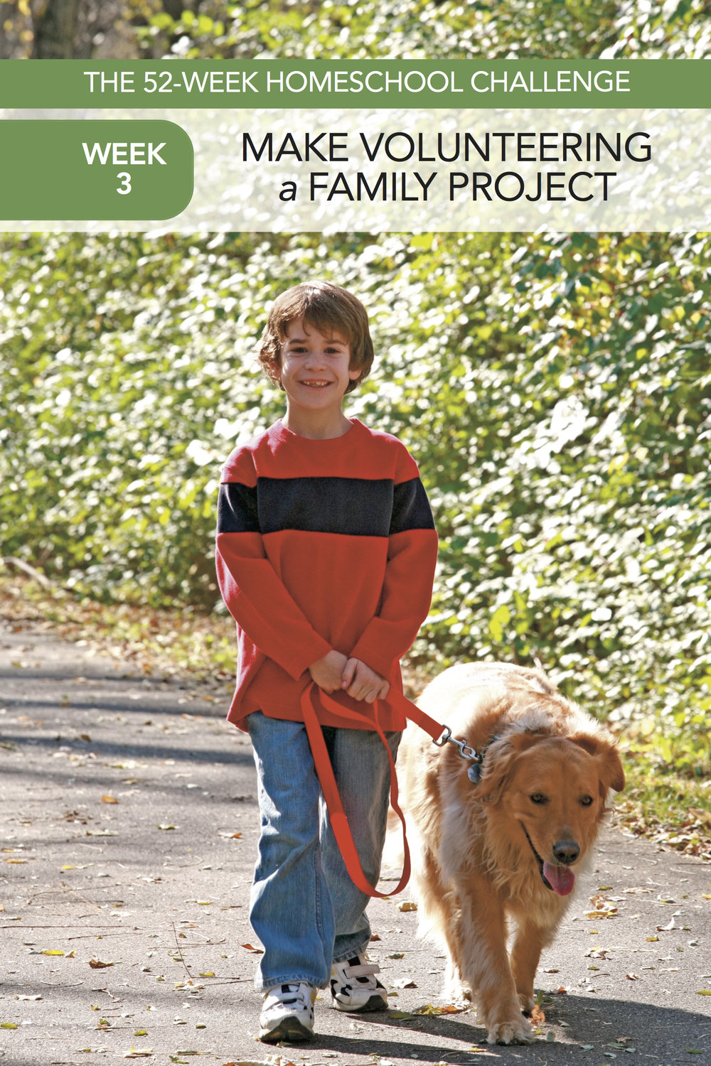 The 52-Week Homeschool Challenge: Start a Family Volunteer Project