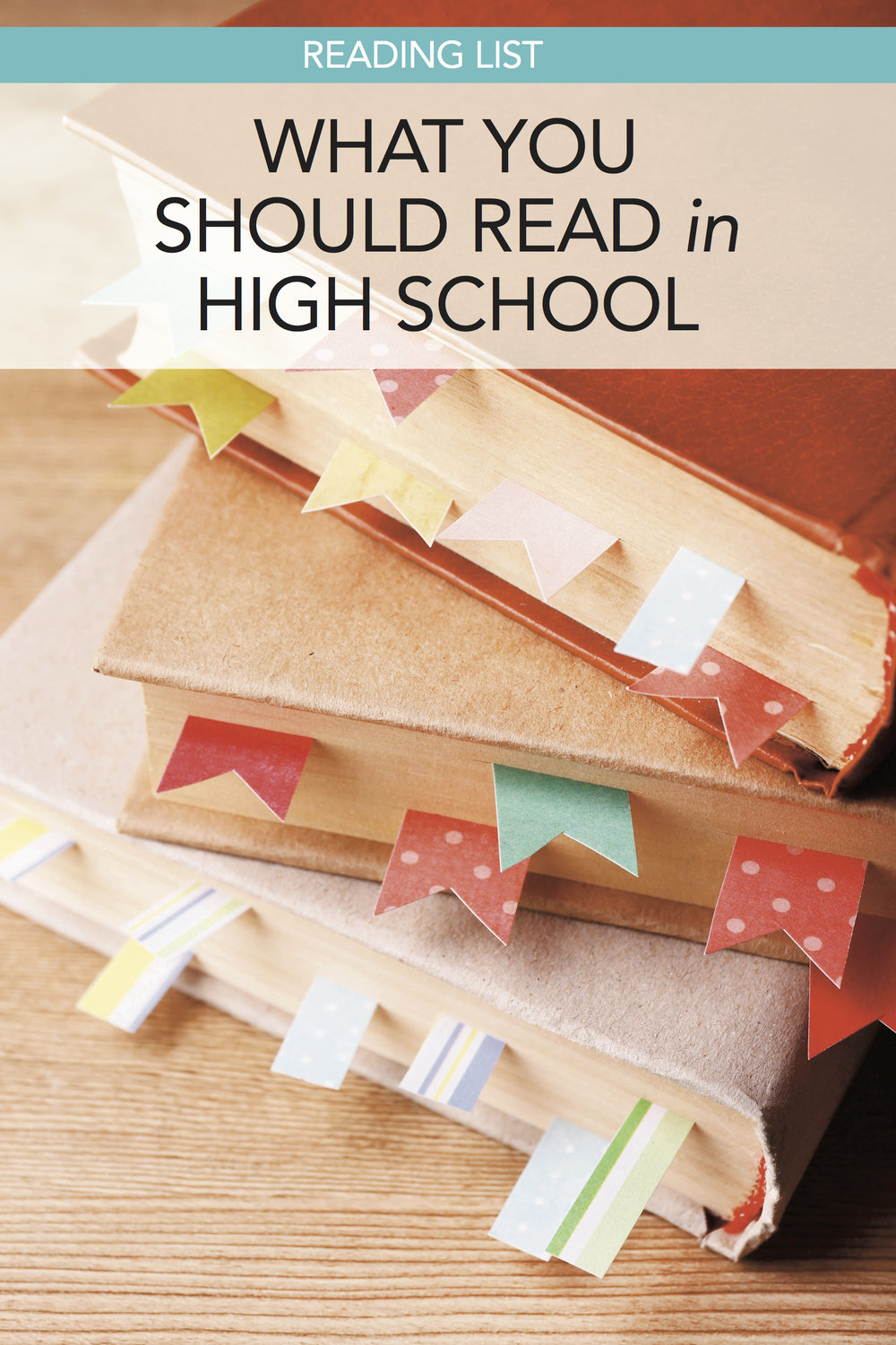Great homeschool reading list for high school. #homeschool