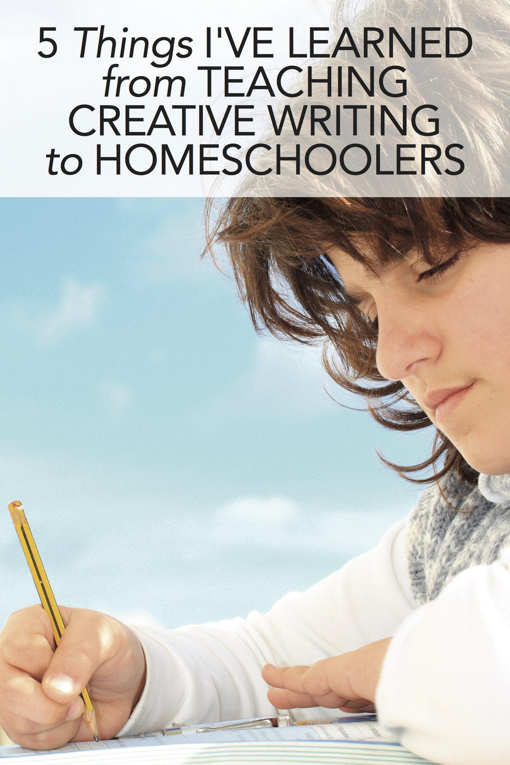 Great tips for teaching writing to homeschoolers. Number three gives me hope! #homeschool