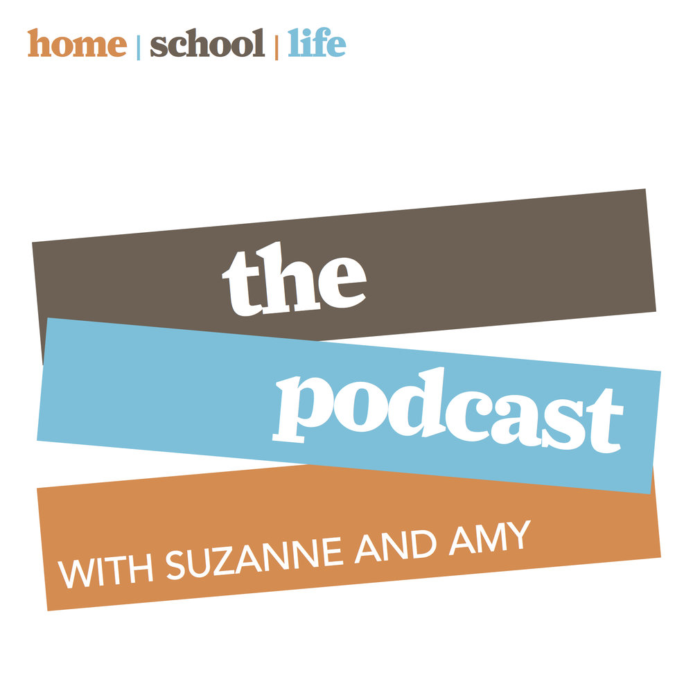 The Podcast with Suzanne and Amy is a secular homeschool podcast produced by home/school/life magazine