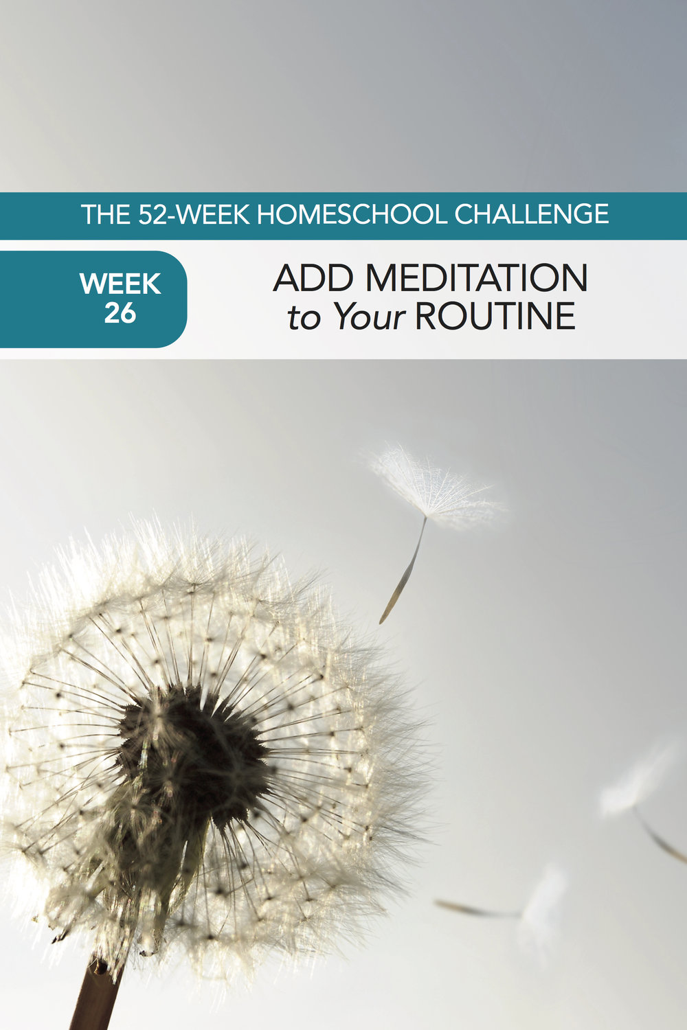 52 Weeks of Happier Homeschooling Week 26: Add Meditation to Your Routine