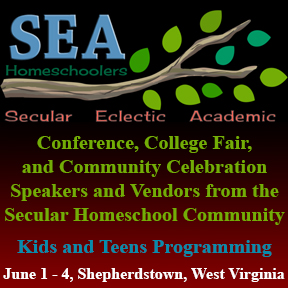 My problem with homeschool conferences is a lot like my problem with homeschool magazines: They're out there, but they seldom feel like they're for me. That's why I'm so excited about SEA's homeschool conference, a totally secular homeschool conference that has the potential for real staying power