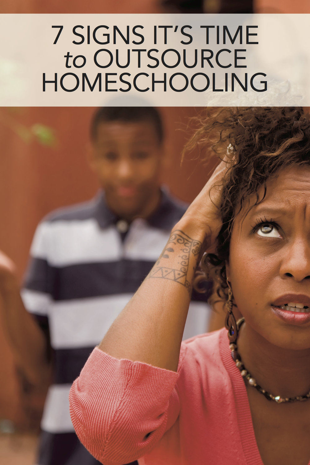 Whether it's looking into school options, hiring a tutor, or just finding an outside class for a specific subject, sometimes homeschooling means  not  doing it yourself.