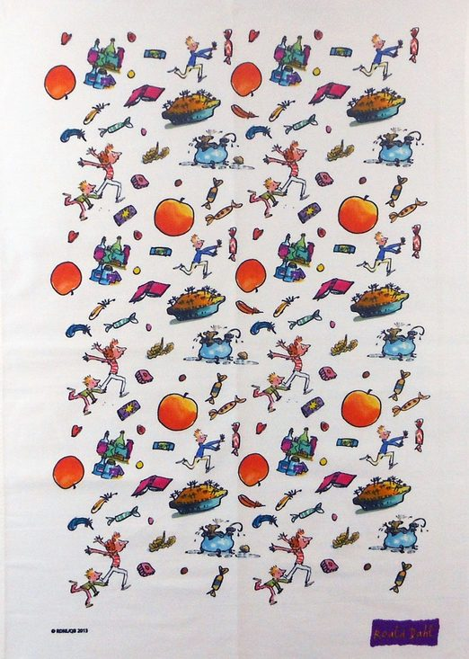 Roald Dahl tea towel