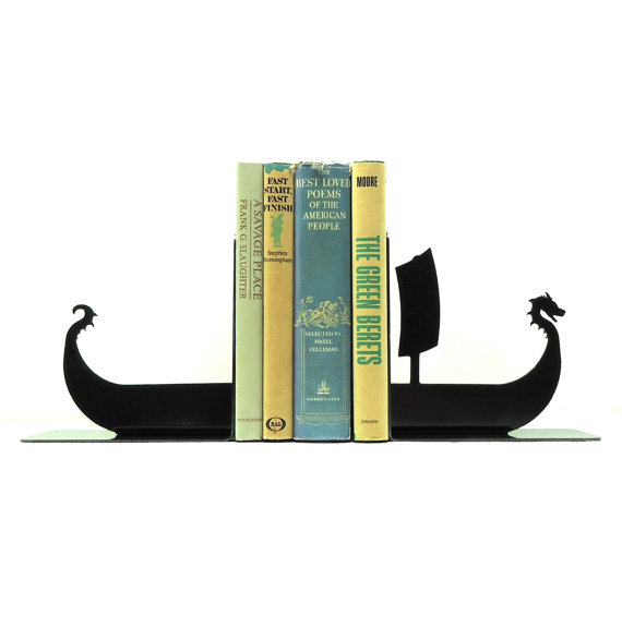 viking boat bookends