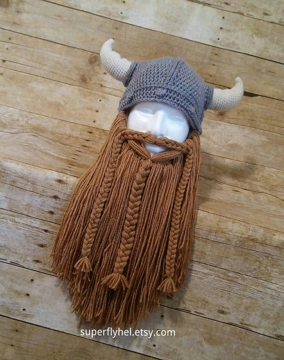 knitting viking beard and hat