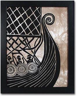 viking boat print