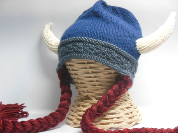 knitting viking hat
