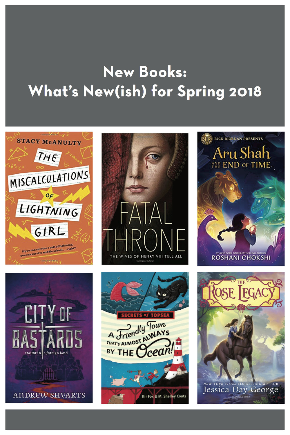 What's new on bookshelves this spring