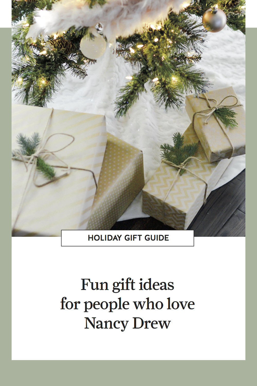 Gift Guide: Gift Ideas for People Who Love Nancy Drew — home ...