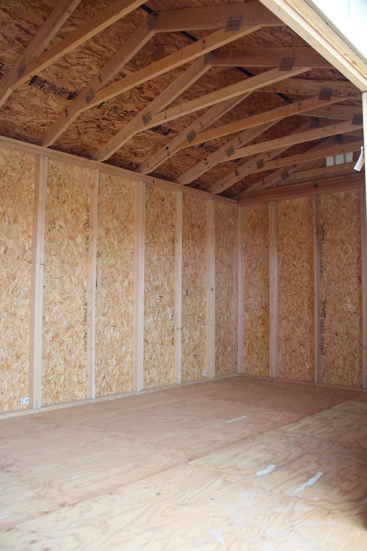 Inside a shed