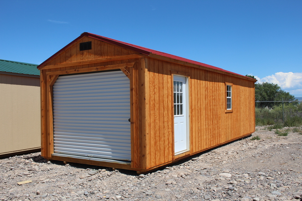 Our portable buildings come with your choice of a shingle roof or metal roof.
