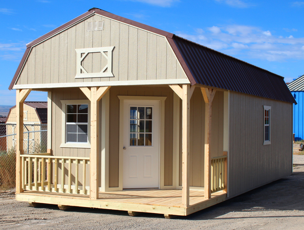 Deluxe lofted barn cabin cumberland buildings for Lofted barn shed