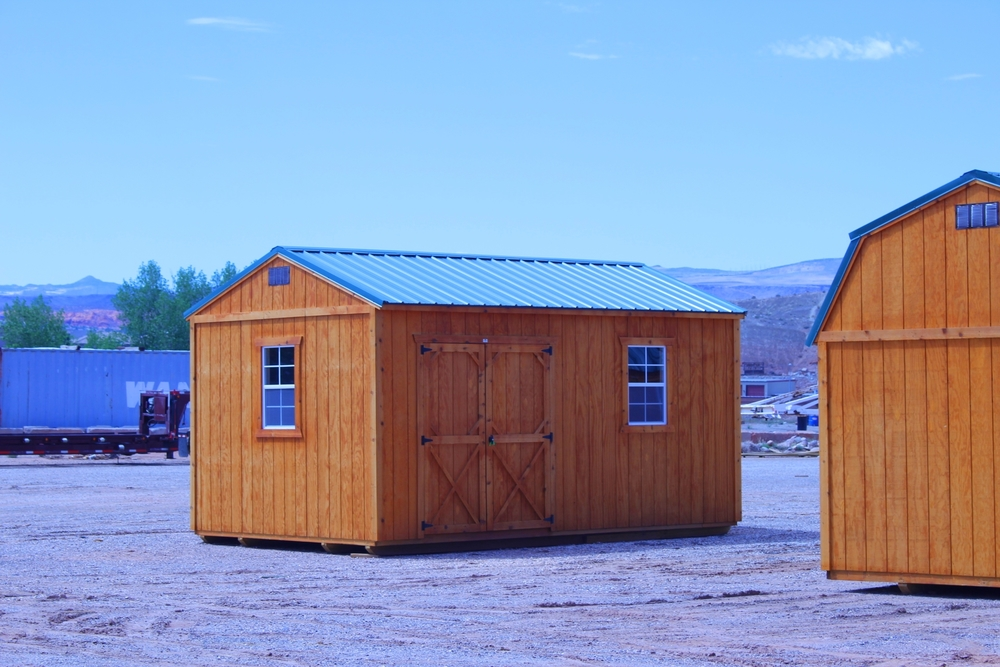 Storage shed side utility shed