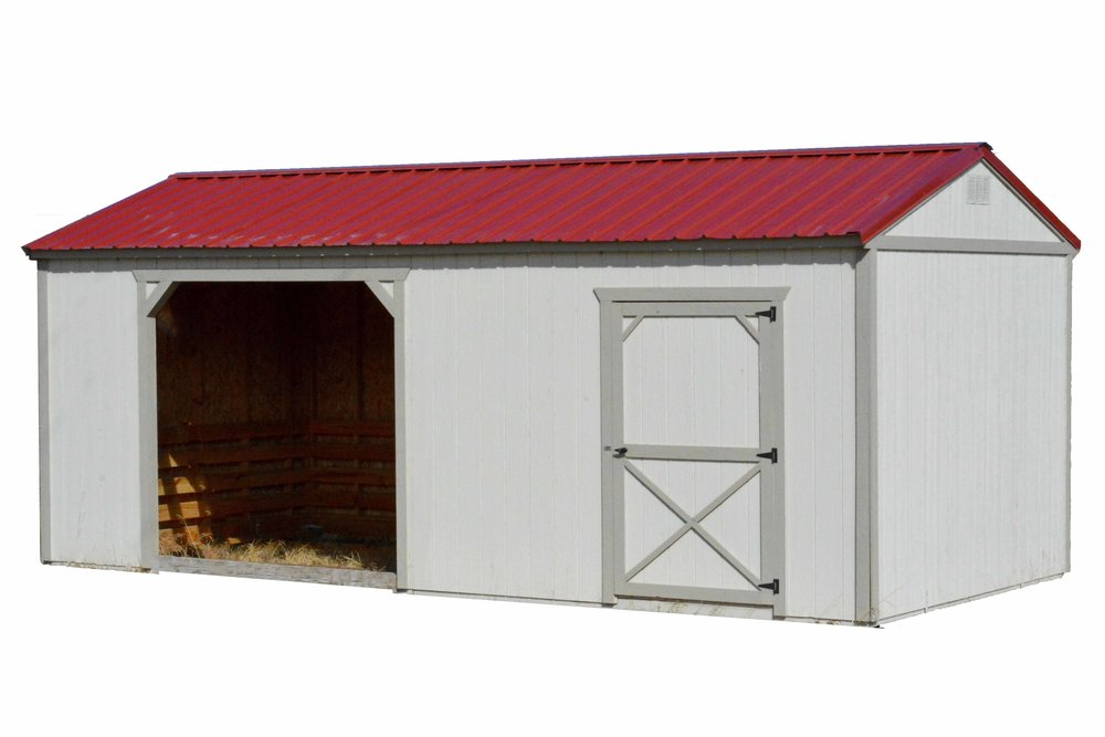 Painted Horse Barn and Loafing Shed