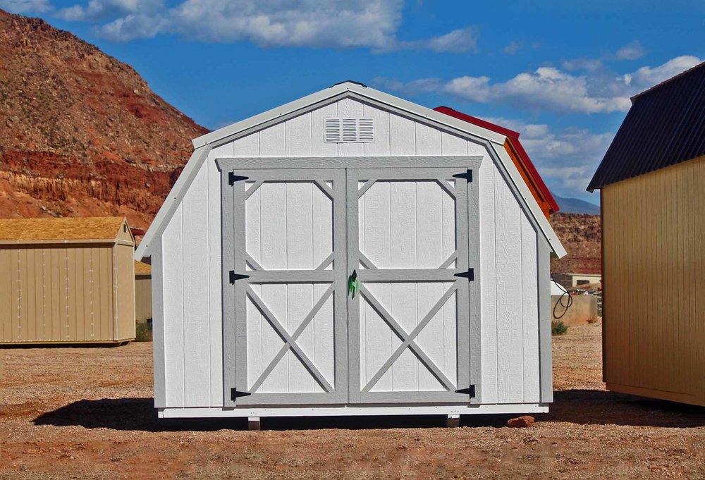 Painted mini barn