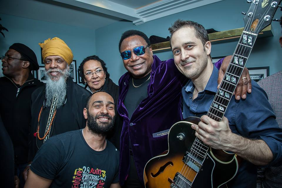 Hanging with George Benson in London after our Doc show!