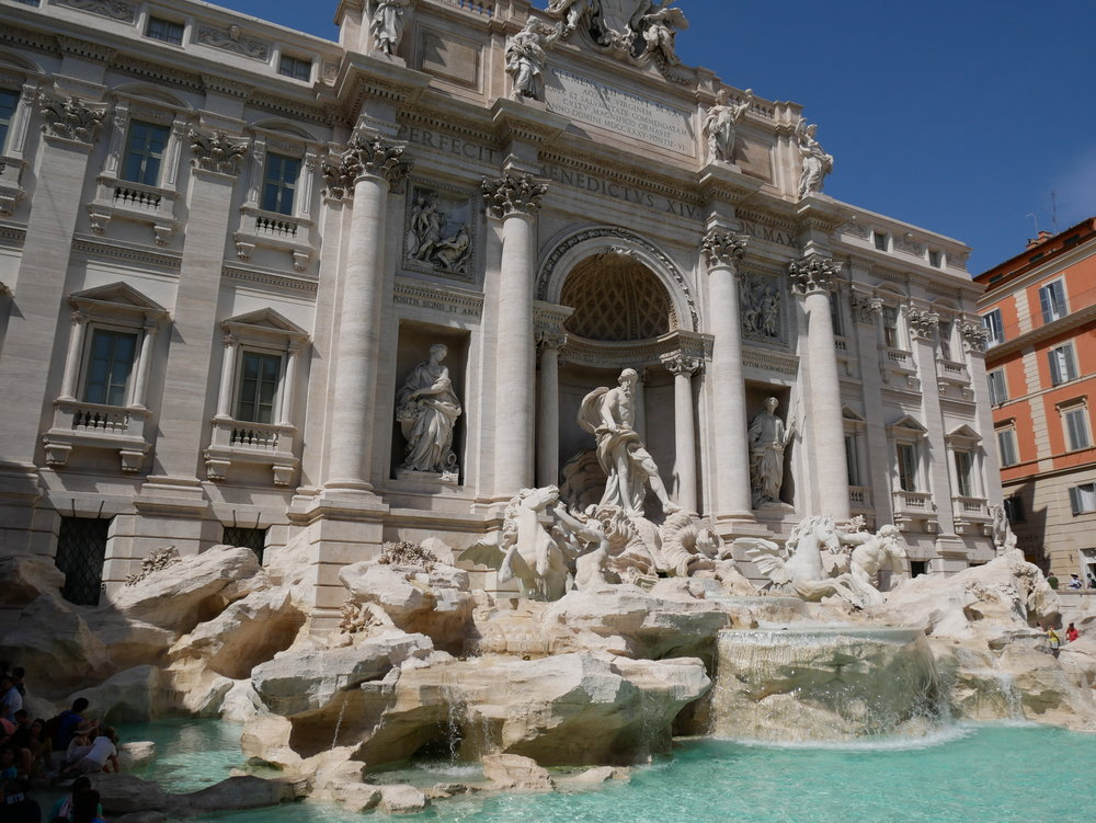 The Trevi Fountain in Rome, Italy. Isn't she absolutely magnificent? Resolution #7 can take you there!